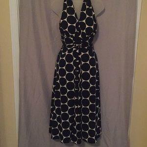 Jessica Howard Dresses - Jessica Howard Polka-Dot Halter Dress